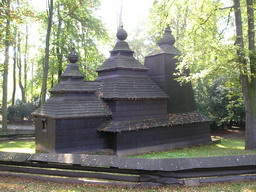 Orthodox church in the park
