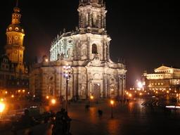 Dresden Church and Museum In The Evening